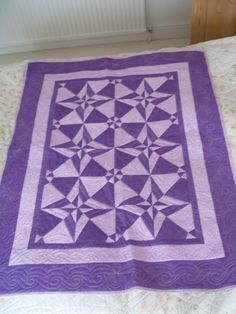 Stunning 'Day and Night' design lap patchwork quilt or throw. £49.99