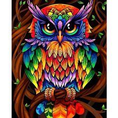 Owl Pictures, Wall Art Pictures, Kit Pintura, Owl Artwork, Owl Pet, Art Therapy Activities, Creative Activities, Family Activities, 5d Diamond Painting