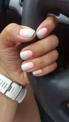 40 Glam Ombre Nail Art Looks for Summer You Should Try 12 - - 40 Glam Ombre Nail Art Looks for Summer You Should Try 12 I want those nails! Summer Acrylic Nails, Cute Acrylic Nails, Cute Nails, Pretty Nails, Gel Nails, Summer Nails, Nail Polishes, Gel Manicures, Nail Nail