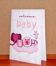 Stamps:  Quinn's ABC (Lawn Fawn), Noah's Ark (Jane's Doodles), My beach house (Practicing Creativity)  Card:  X-press white, pink pirouette, DP (SU!), Gingham (A Muse)  Ink:  Pink pirouette, pretty in pink, melon mambo, rich razzelberry, copics, versamark  Accessories:  PTI die, dimensionals, sponge, white emboos powder