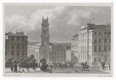This image comes from 'Modern Athens', a book of engravings based on drawings by Thomas Shepherd published in 1829. In the late eighteenth and early nineteenth centuries Edinburgh was growing rapidly. The popular neoclassical architectural style of the time was inspired by the ancient Greeks and Romans, and Edinburgh was nicknamed 'Athens of the North'. Shepherd's engravings celebrate the beauty of Edinburgh and show many notable buildings and streets both within the city, and further…