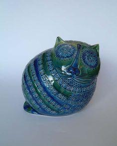 BITOSSI RIMINI BLUE MID-CENTURY MODERN CAT DESIGNED BY ALDO LONGHI