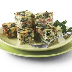 Bite-size portions are just right         for a cocktail party. If you'd like to serve         the frittata for breakfast or brunch, cut it         into larger pieces.