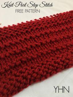 745011f55f9270 The Knit Purl Step Stitch with FREE Pattern! - Yarn