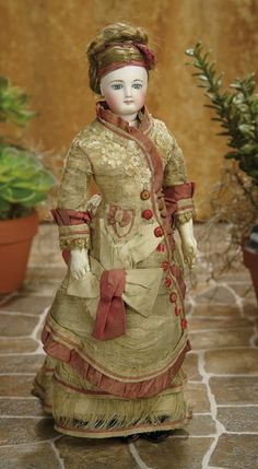 A Matter of Circumstance: 68 Beautiful French Bisque Poupee Attributed to Jumeau in Original Costume
