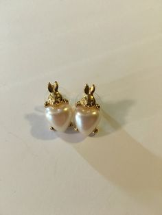 A personal favorite from my Etsy shop https://www.etsy.com/listing/449185844/vintage-avon-stud-bunny-heart-earrings