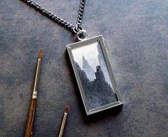 original fantasy art pendant necklace by jessica rohr
