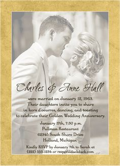 Then And Now Dots Wedding Anniversary Invitation Stationery