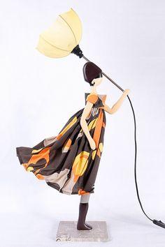 All of the Umbrella Little Girl Table Lamps we offer are handcrafted design lamps. Handmade Lamps, Handmade Items, Transparent Screen, Lamp Socket, Custom Dresses, Lamp Design, Floor Lamp, Orange Color, Little Girls
