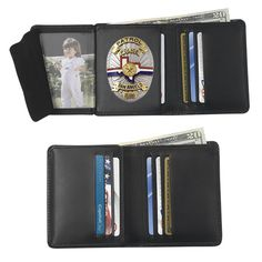 Strong Leather Hidden Badge Wallet, Custom