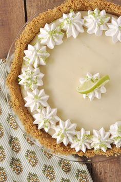 Lime Pie This truly is the PERFECT Key Lime Pie. It has just the right amount of lime goodness and the texture is smooth and creamy!This truly is the PERFECT Key Lime Pie. It has just the right amount of lime goodness and the texture is smooth and creamy! Lime Recipes, Sweet Recipes, Fast Recipes, Avocado Recipes, Pie Dessert, Dessert Recipes, Delicious Desserts, Yummy Food, Lemon Desserts