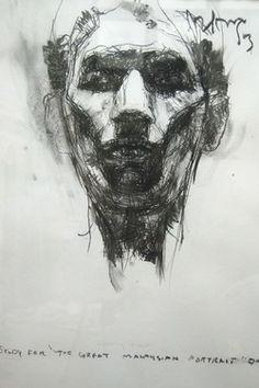 "Saatchi Online Artist hairi yaakub; Drawing, ""Potrait"" #art"