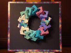 Origami Wreath Origami Wreath, Origami Decoration, Hanukkah, Christmas Crafts, Craft Ideas, Wreaths, Frame, Home Decor, Picture Frame