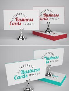 Mockup para Cartões de Visita em LetterPress.