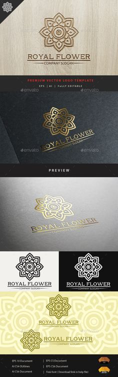 Royal Flower — Vector EPS #beautiful crest #company • Available here → https://graphicriver.net/item/royal-flower/10943081?ref=pxcr