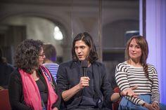 Detrás del Telón: La flauta mágica. Miryam Singer (directora de escena, escenografía y vestuario), Joel Prieto (Tamino) y Anett Fritsch (Pamina). Foto: Patricio Melo.