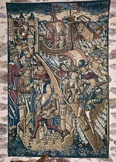 Ships Tapestry | Medieval Castle de Montbrun, Dournazac, Haute-Vienne, France