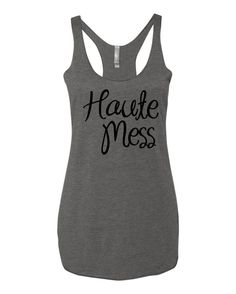 Haute Mess Tank by yogatops on Etsy