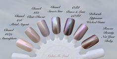 Chanel Le Vernis Sweet Star for Fashion Night Out 2014 - Comparison Swatches Brown Nail Polish, Nail Polish Colors, Nail Polishes, Manicures, Creative Wedding Inspiration, Star Nails, Nail Envy, Fashion Night, Nail Inspo