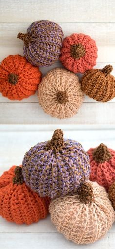 Autumnal Colorful Crochet Pumpkins. Autumn is this amazing time of the year, when everything looks so cosy and all you want to do is to snuggle under a blanket with your favorite beverage and crochet. Well, here's a great idea! Let's crochet some fall decorations, that will make your home ready for Thanksgiving and Halloween! #freecrochetpattern #amigurumi #pumpkin