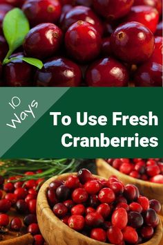 10 Ways To Use Fresh Cranberries - How do you use fresh cranberries? We're sharing 10 deliciously festive ways to use fresh cranberries throughout the holiday season. The Produce Moms Cranberry Recipes Healthy, Easy Smoothie Recipes, Fruit Recipes, Healthy Recipes, Delicious Recipes, Easy Recipes, Cookie Recipes, Recipe Using Cranberries, Vegan