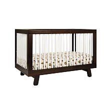 Babyletto Hudson 3-in-1 Convertible Crib with Toddler Rail - Espresso and White Can't wait til ours comes in!