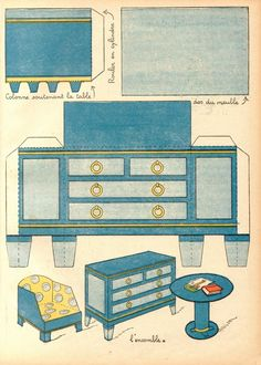3d Paper Doll Furniture Toys Templates On Pinterest Picasa Doll