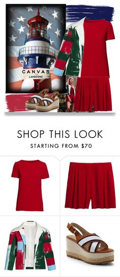 """""""Paint Your Look With Canvas by Lands' End: Contest Entry"""" by pink1princess ❤ liked on Polyvore featuring Lands' End and Canvas by Lands' End"""