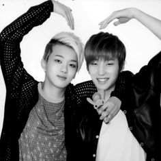 [FACT]: Youngjae sometimes can't tell whether Jongup is a genius or an idiot. <3.<3