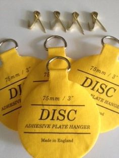 #3 Invisible Adhesive Disc Plate Hanger to Hang Plates on the Wall (other sizes available to accommodate any size plate) 3  size | Pinterest | Plate hangers ... & 3 Invisible Adhesive Disc Plate Hanger to Hang Plates on the Wall ...