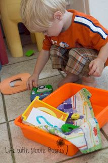 The Letter Q Sensory Bin. Sensory bins are made for HANDS ON learning. Do you have a toddler? This is for you!