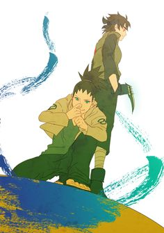I was trying to figure out who it was in the back. Then it hit me. It's Asuma's and Kurania's kid.
