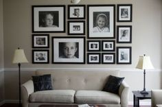 Collage Wall :want to do this ASAP with family pics over my couch