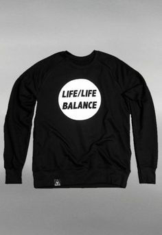 LIFE/LIFE BALANCE SWEATER BLACK