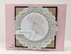 Pretty Summer Silhouettes with How To Video, Kay Kalthoff is Stamping to Share with Stampin' Up!, Teeny Tiny Wishes, Tea Lace Doilies