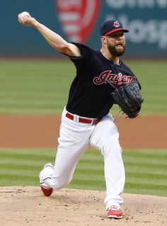 Cleveland Indians starting pitcher Corey Kluber delivers against the Minnesota Twins during the first inning of a baseball game Wednesday, Aug. in Cleveland. Baseball Equipment, Baseball Games, Jacobs Field, Corey Kluber, Cleveland Indians Baseball, Baseball Uniforms, American League, Spring Training, Minnesota Twins