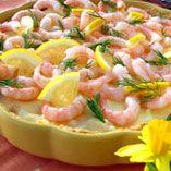 Katkarapupiirakka | Dansukker.fi Fish And Seafood, Cheeseburger Chowder, Tapas, Brunch, Soup, Baking, Patisserie, Bakken, Bread