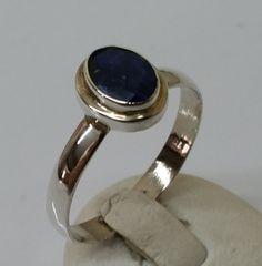 Vintage Ringe - Silberring mit Lapislazuli Facettenschliff SR187 - ein…