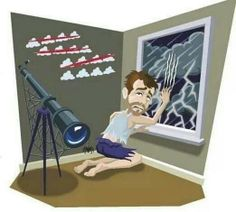 Bad weather for astronomer