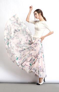 2015 New Maxi skirt chiffon skirt
