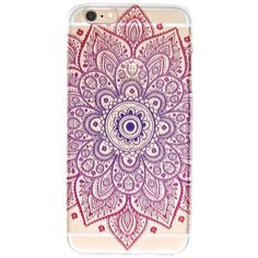 Ombre Mandala Iphone 6 Plus Case ($11) ❤ liked on Polyvore featuring accessories, tech accessories and multi