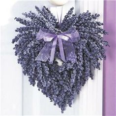 Heart Wreath made with dried Lavender.... by Glenda Kennedy