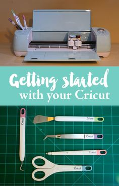 Getting started with your Cricut. A beginners guide to using your Cricut. Learn the basics on how to use your Cricut. Tutorial on how to cut on one mat and how to use layers. Cricut Mat, Cricut Air 2, Cricut Craft Room, Cricut Cuttlebug, Cricut Vinyl, Cricut Fonts, Cricut Ideas, Cricut Tutorials, How To Use Cricut