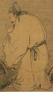 A scholar zen master, Chinese ink painting by Liang Kai, of Song Dynasty