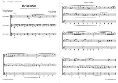 """Winter""  (Largo)  VIVALDI by guitar trio sheetmusic. http://www.guitarraul.com/p/120/invierno-vivaldi-gratis"