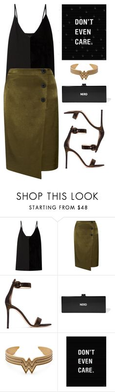 """""""Don't Even Care"""" by cherieaustin ❤ liked on Polyvore featuring By Malene Birger, Gianvito Rossi and Edie Parker"""