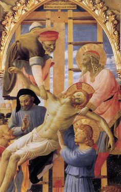Deposition from the Cross Detail, 1437-40, Fra Angelico, Florence, Italy