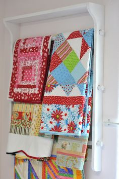 Quilt Rack by Pleasant Home, via Flickr