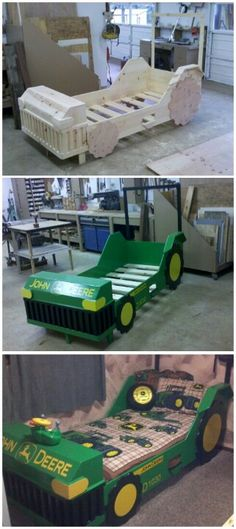 John Deere Bed. Now we just need our own place!!!