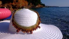 Gold&Brown totally summer necklace by kosmimART on Etsy